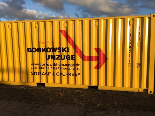 Borkowski Umzüge lagercontainer borkowski umzüge wir bauen eine containerhalle
